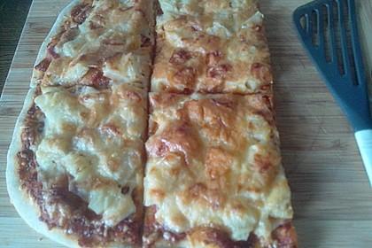 Pizzateig, mit wenig Hefe 26