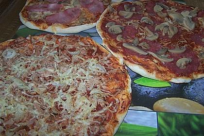 Pizzateig, mit wenig Hefe 19