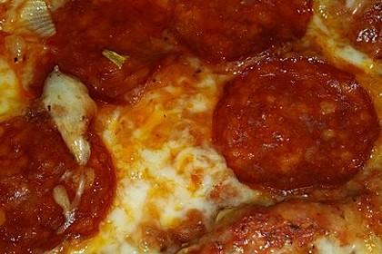Pizzateig, mit wenig Hefe 30