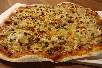 Pizzateig, mit wenig Hefe 2