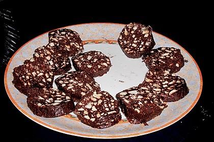 Italienische Schokoladen - Salami 0