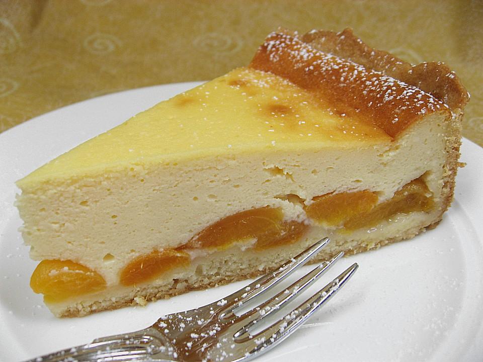 Kuchen mit topfen und rahm