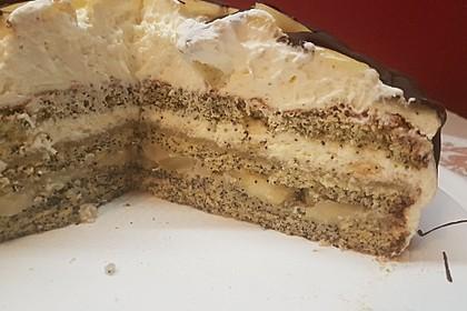 Apfel - Mohn - Marzipan - Torte 19