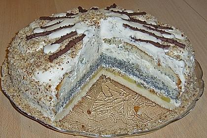Apfel - Mohn - Marzipan - Torte