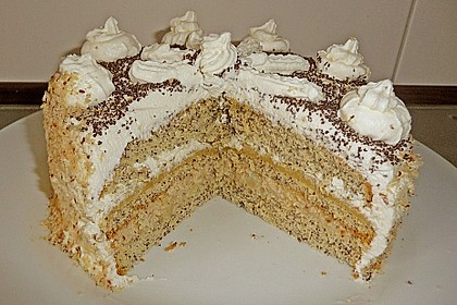 Apfel - Mohn - Marzipan - Torte 3