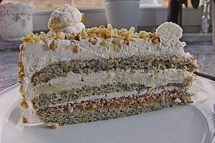 Apfel - Mohn - Marzipan - Torte 4