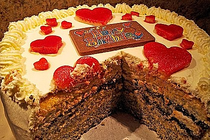 Apfel - Mohn - Marzipan - Torte 11