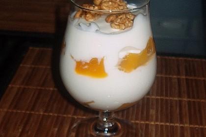 Mango - Quark - Dessert mit Walnüssen 16