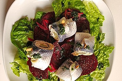 Rote Bete - Salat mit Rollmops 2