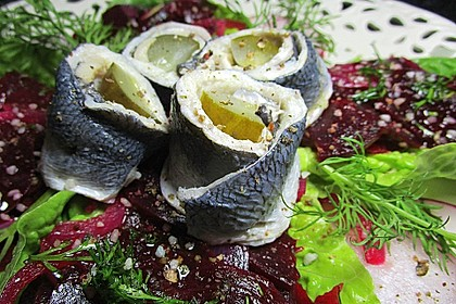 Rote Bete - Salat mit Rollmops 1