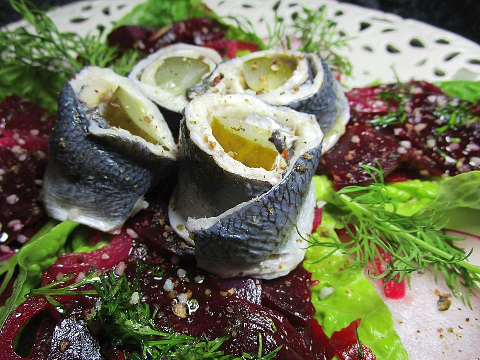 rote bete salat mit rollmops rezept mit bild von veilchen1958. Black Bedroom Furniture Sets. Home Design Ideas