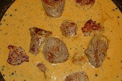 Schweinefiletmedaillons in Grüner Pfeffer - Sauce 9