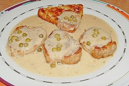 Schweinefiletmedaillons in Grüner Pfeffer - Sauce 8