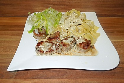 Schweinefiletmedaillons in Grüner Pfeffer - Sauce 5