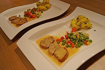 Schweinefiletmedaillons in Grüner Pfeffer - Sauce
