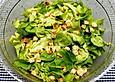 Eichblattsalat mit Pinienkernen und Croûtons