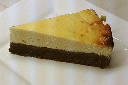 Käsekuchen  mit  Brownie Boden 29