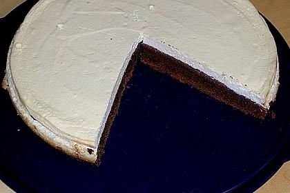 Käsekuchen  mit  Brownie Boden 40
