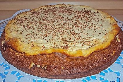 Käsekuchen  mit  Brownie Boden 46