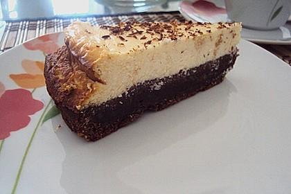 Käsekuchen  mit  Brownie Boden 36