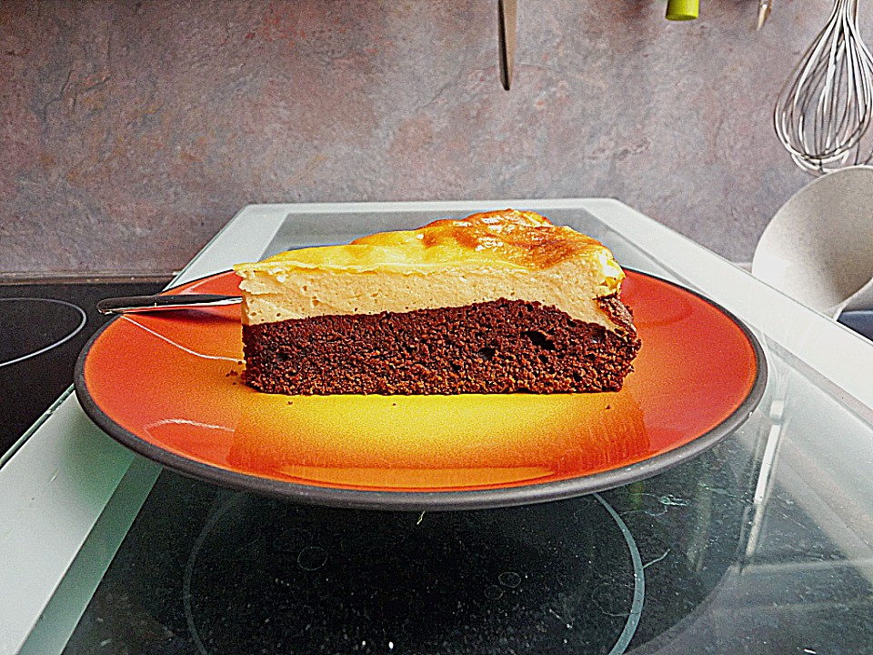 k sekuchen mit brownie boden von pumpkin pie. Black Bedroom Furniture Sets. Home Design Ideas