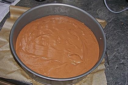 Käsekuchen  mit  Brownie Boden 58