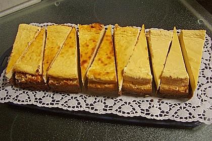 Käsekuchen  mit  Brownie Boden 52
