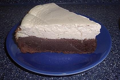 Käsekuchen  mit  Brownie Boden 54