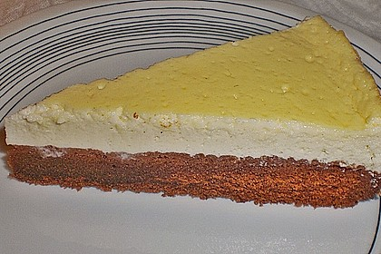 Käsekuchen  mit  Brownie Boden 24