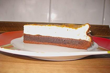Käsekuchen  mit  Brownie Boden 34
