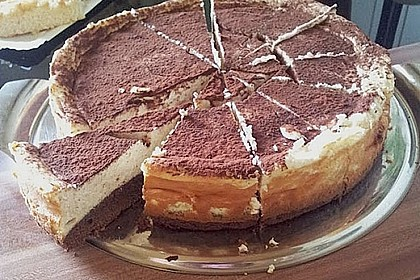 Käsekuchen  mit  Brownie Boden 50