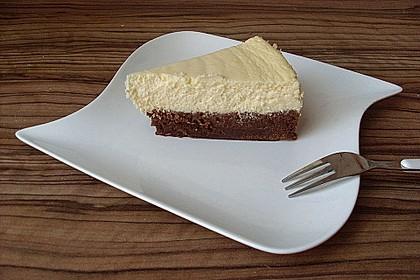 Käsekuchen  mit  Brownie Boden 1