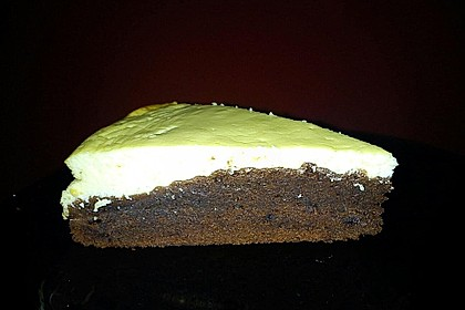 Käsekuchen  mit  Brownie Boden 55