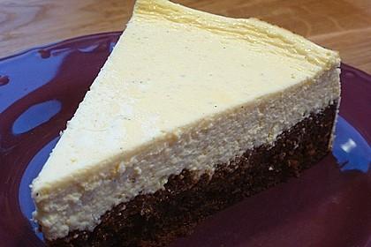 Käsekuchen  mit  Brownie Boden 5