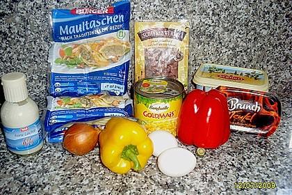 Maultaschen in cremiger Gemüsesauce 2