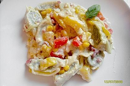 Maultaschen in cremiger Gemüsesauce 1