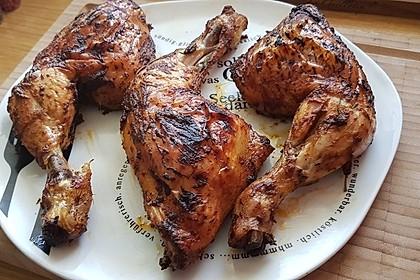 Knusprige Hähnchenkeulen aus dem Ofen 15