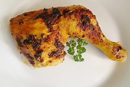 Knusprige Hähnchenkeulen aus dem Ofen 37