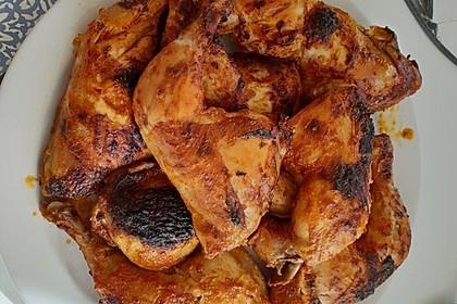 Knusprige Hähnchenkeulen aus dem Ofen 36