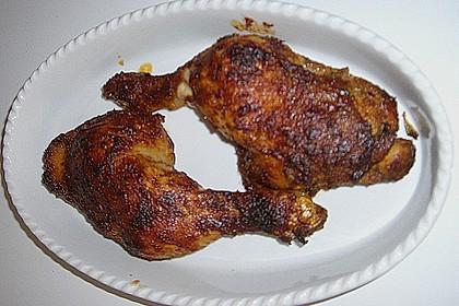 Knusprige Hähnchenkeulen / Hähnchenschenkel aus dem Ofen 104