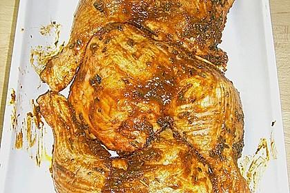Knusprige Hähnchenkeulen / Hähnchenschenkel aus dem Ofen 129