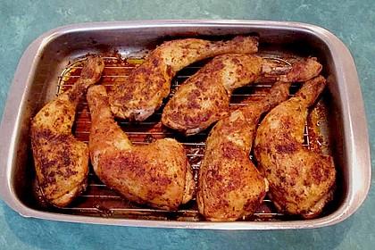 Knusprige Hähnchenkeulen / Hähnchenschenkel aus dem Ofen 30