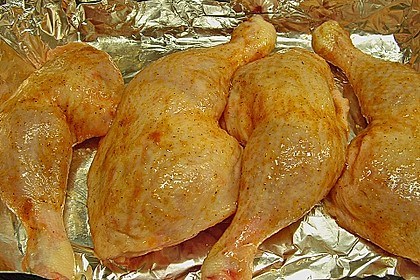 Knusprige Hähnchenkeulen aus dem Ofen 131