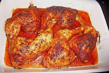 Knusprige Hähnchenkeulen / Hähnchenschenkel aus dem Ofen 75