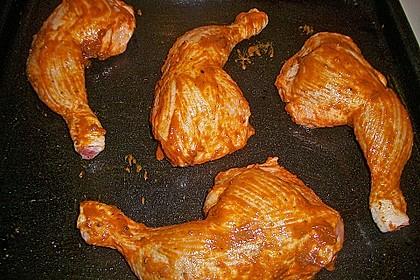 Knusprige Hähnchenkeulen / Hähnchenschenkel aus dem Ofen 120