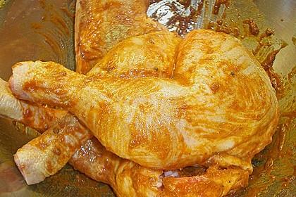 Knusprige Hähnchenkeulen / Hähnchenschenkel aus dem Ofen 124