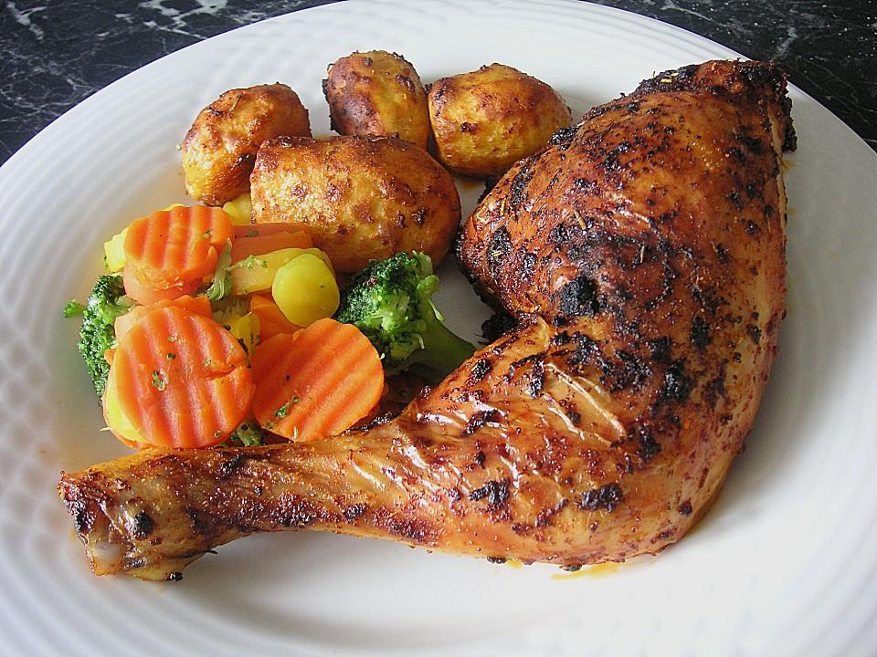 Knusprige Hähnchenkeulen aus dem Ofen