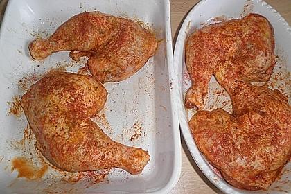 Knusprige Hähnchenkeulen aus dem Ofen 160