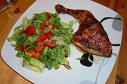 Knusprige Hähnchenkeulen / Hähnchenschenkel aus dem Ofen 6