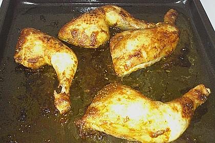 Knusprige Hähnchenkeulen / Hähnchenschenkel aus dem Ofen 143